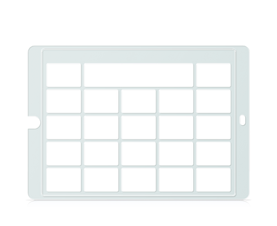 Speech Case Keyguard for Snap Core First 4x4 Vocabulary Grid 5x5 Total Grid with Message Window and Toolbar