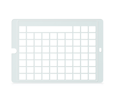 Speech Case Keyguard for Snap Core First 7x9 Vocabulary Grid 8x10 Total Grid with Message Window and Toolbar