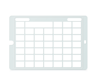 Speech Case Keyguard for Snap Core First with 6x6 Vocabulary Grid 7x7 Total Grid with Menu