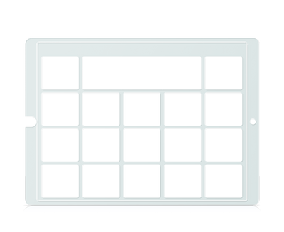Speech Case Keyguard for Snap Core First 3x4 Vocabulary Grid 4x5 Total Grid with Message Window and Toolbar