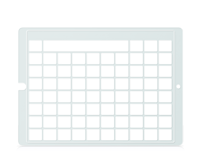 Speech Case Pro Keyguard for Snap Core First 7x9 Vocabulary Grid 8x10 Total Grid with Message Window and Toolbar