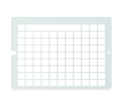 Speech Case Pro Keyguard for Snap Core First 8x10 Vocabulary Grid 9x11 Total Grid with Message Window and Toolbar