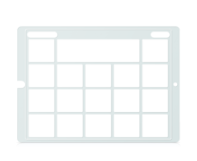 Speech Case Pro Keyguard for Snap Core First with 3x4 Vocabulary Grid 4x5 Total Grid with Menu