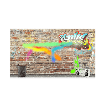 Screenshot of Magic Eye-FX software featuring Graffiti game