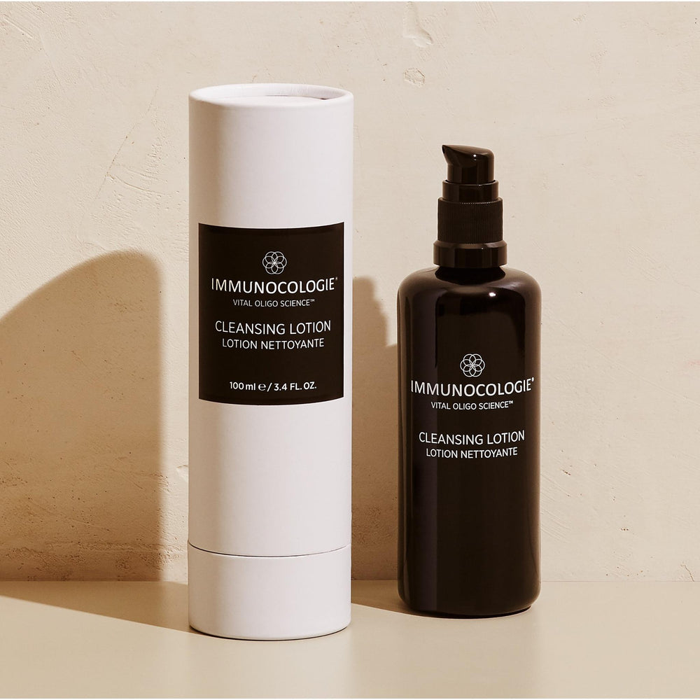 Immunocologie Cleansing Lotion is a gentle, deeply nourishing anti-inflammatory cleanser that helps replenish and regenerate your skin for a brighter complexion