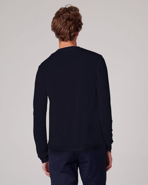 Load image into Gallery viewer, LS Crew Tee, SHEER Jersey