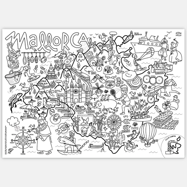 MALLORCA COLORING MAP