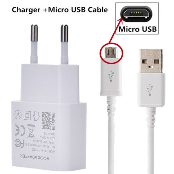 AC Wall Adpter Charger Cable For Samsung Xiaomi Redmi 8 8t Micro USB Type C Cable Fast Charging Mobile Phone Charger USB Cable
