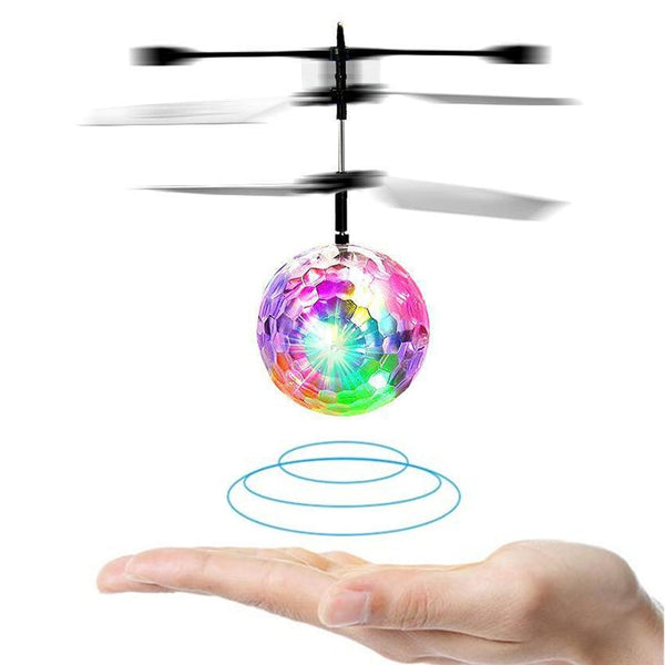 Mini RC Drone Hand Induction Flying Ball Anti-stress LED Light Helicopter Aircraft For Kids Christmas Gift