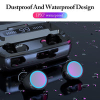 Briame LED Bluetooth Wireless Earphones Headphones Earbuds TWS Touch Control Sport Headset Noise Cancel Earphone Headphone