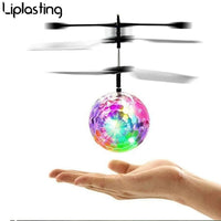 Mini drone Remote Control RC Helicopter Aircraft Flying Ball flying toys Ball LED Light Quadcopter Dron fly Kids toys
