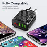 5V 3.1A Display USB Charger For iPhone Charger 3 Ports Fast Charging Wall Phone Charger For iPhone Samsung Xiaomi USB Adapter