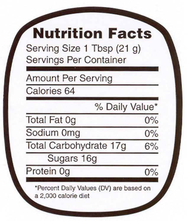 Nutrition Labels - Small 250 roll