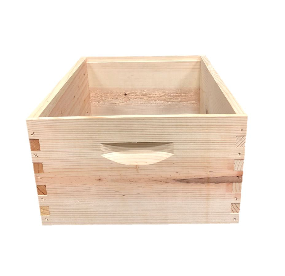 10 Frame Deep Assembled Unfinished Pine Hive Box w/o Frames