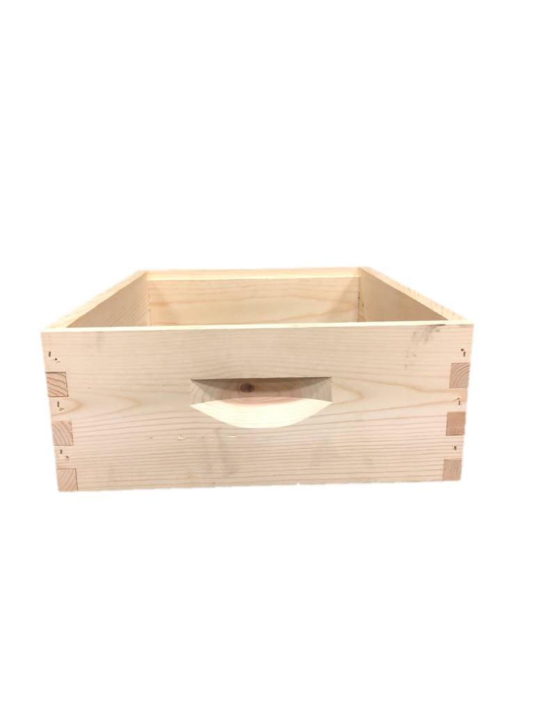 10 Frame Medium Assembled Unfinished Pine Hive Box w/o Frames