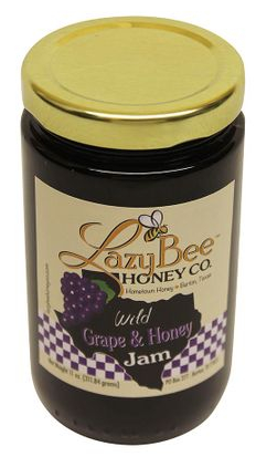 Lazy Bee Grape and Honey Jam 11 ounce