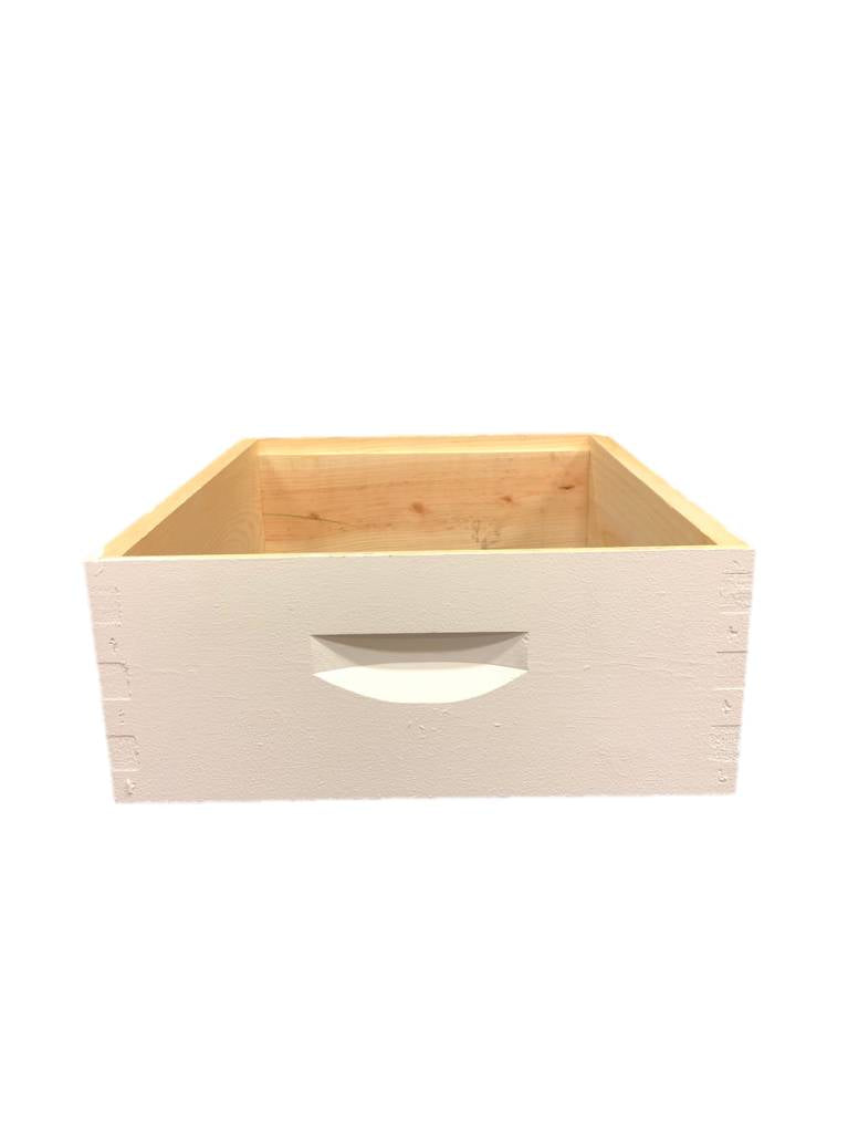 10 Frame Medium Assembled White Pine Hive Box w/o Frames