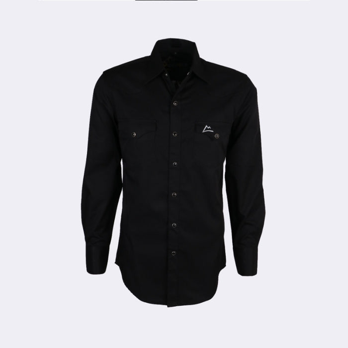 Camisa Vaquera lisa color negro chh006