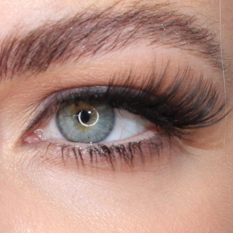 Woman wearing Glossed By Claire Audrey lashes