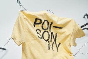 POISON IVY T-SHIRT (WASHED YELLOW)