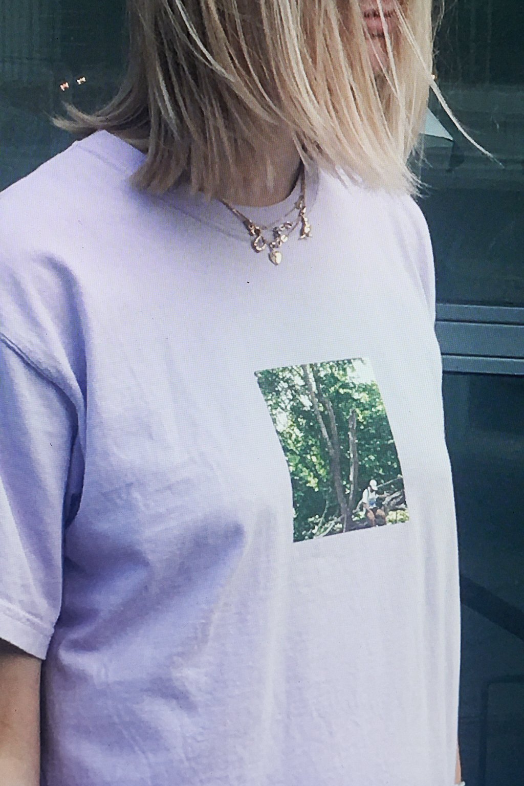 LAVENDER T-SHIRT (WASHED LIGHT PURPLE)