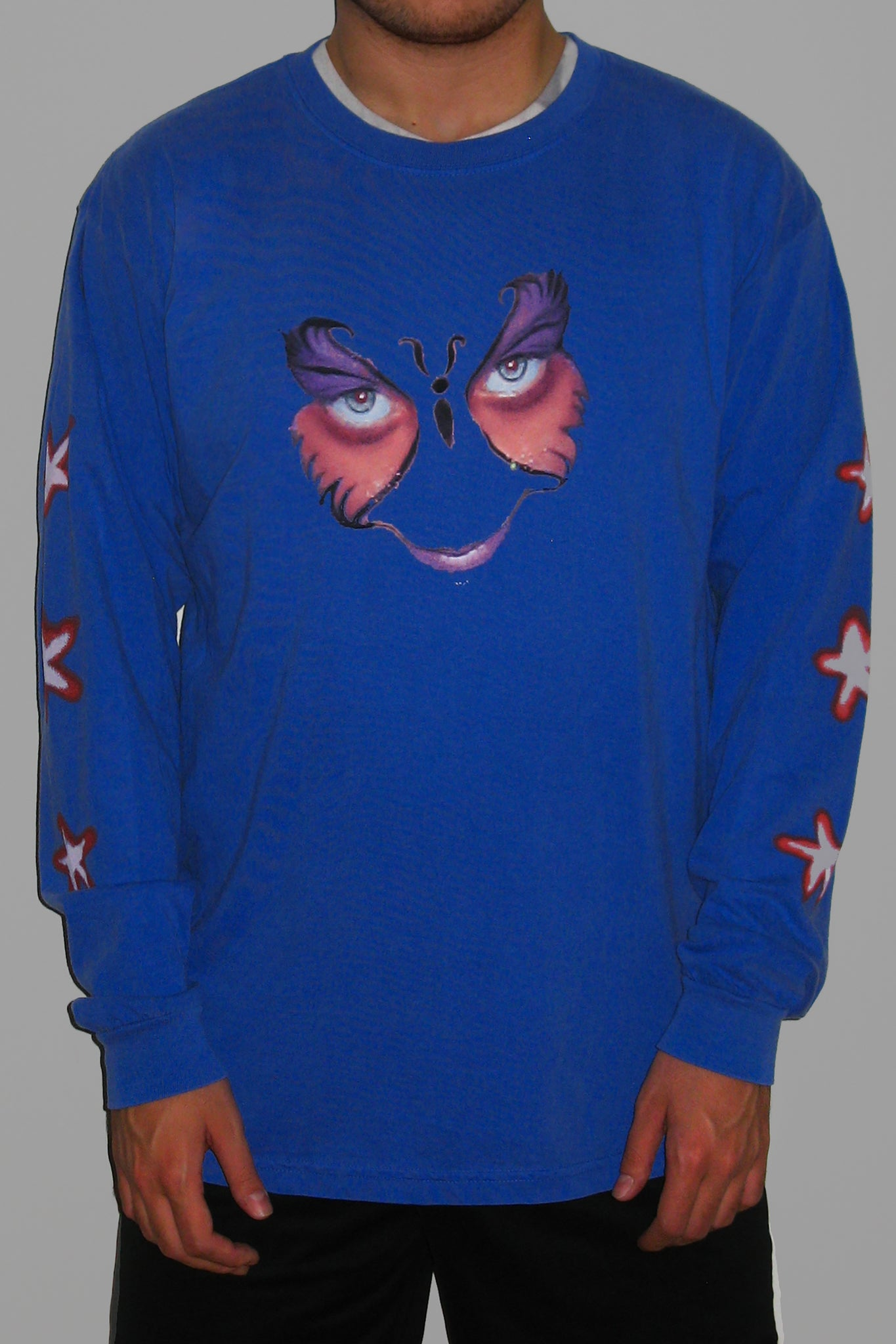 BUTTERFLY LONGSLEEVE T-SHIRT (WASHED BLUE)