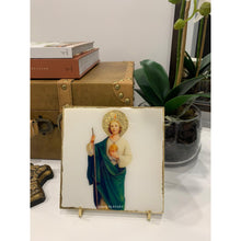Load image into Gallery viewer, ST. Jude on Italian White Marble with Stand