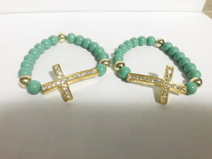 Tiffany Gold Cross Bracelet