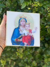 Load image into Gallery viewer, Blessed Virgin Mary on Italian White Marble with Stand