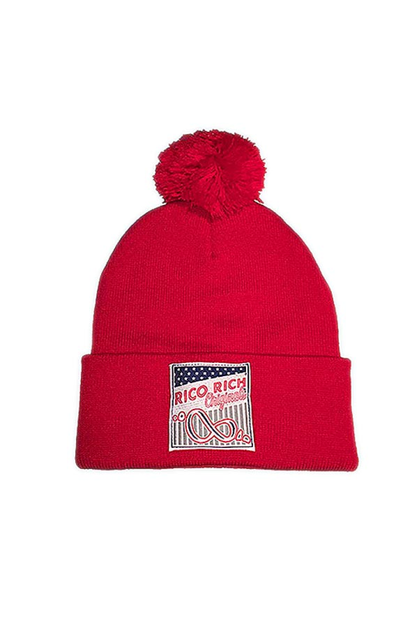 Beanie Pom Pom - Nation - Red