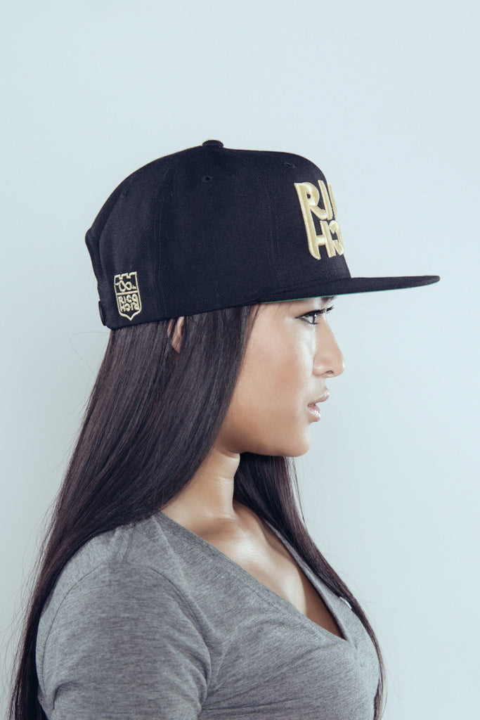 Snapback - Mirror - Black & Gold