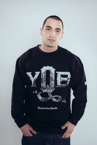 Crewneck - YQB - Black