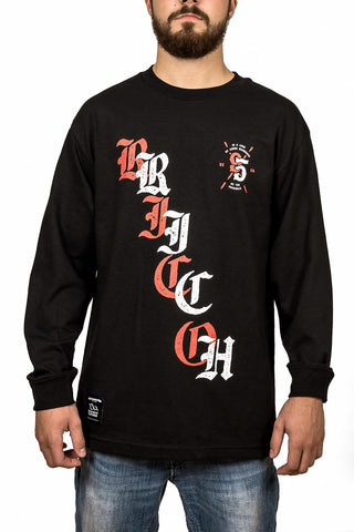 Long Sleeve Tee - In a land - Black
