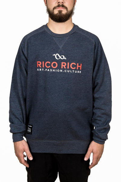 Crewneck - ART-FASHION-CULTURE - Heather Navy
