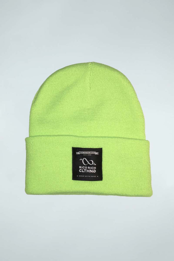 Beanie - RR Tag - Safety Yellow