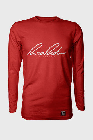 Long Sleeve Tee - Signature - Red