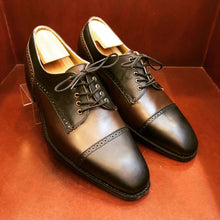 Load image into Gallery viewer, Javier Black & Brown Mens Shoes
