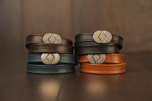 Leather Wristband Black