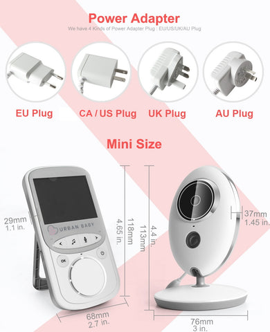Baby Monitor One global multi-country plug options