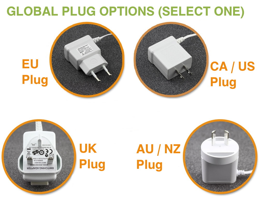 Baby Monitor Two global multi-country plug options