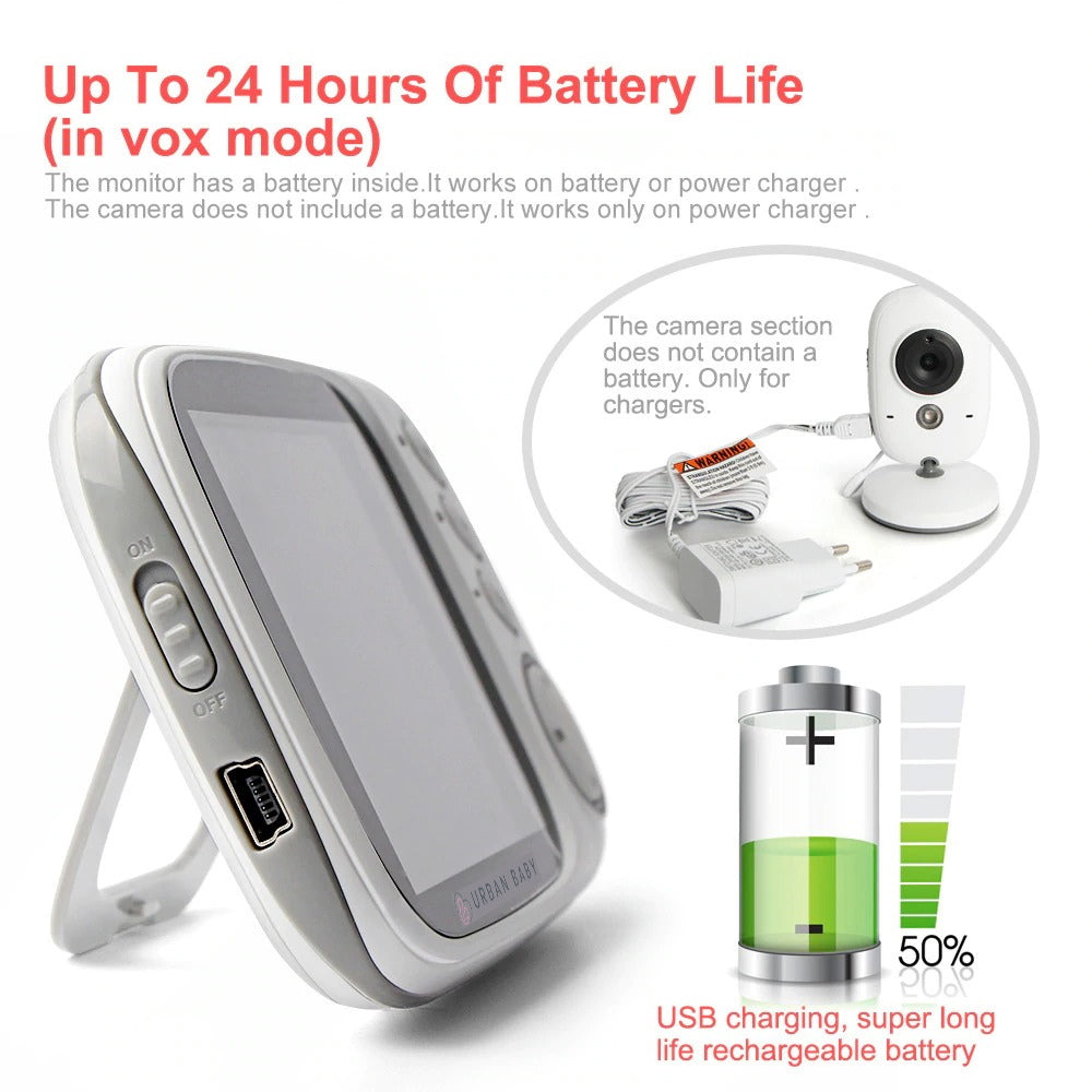 Baby Monitor Two battery life up to 24 hours