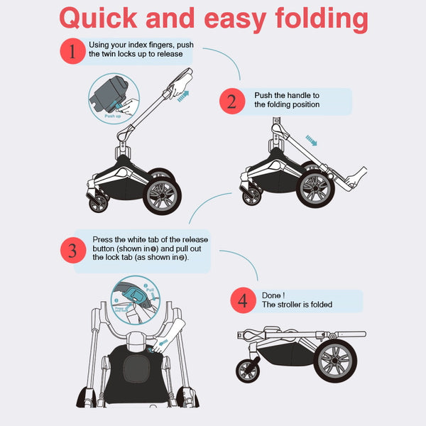 compact and easy folding orna stroller from urban baby