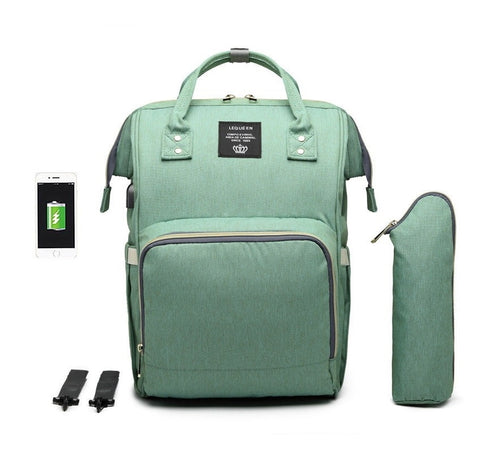 Urban Baby Mommy Bag One Diaper Bag with USB