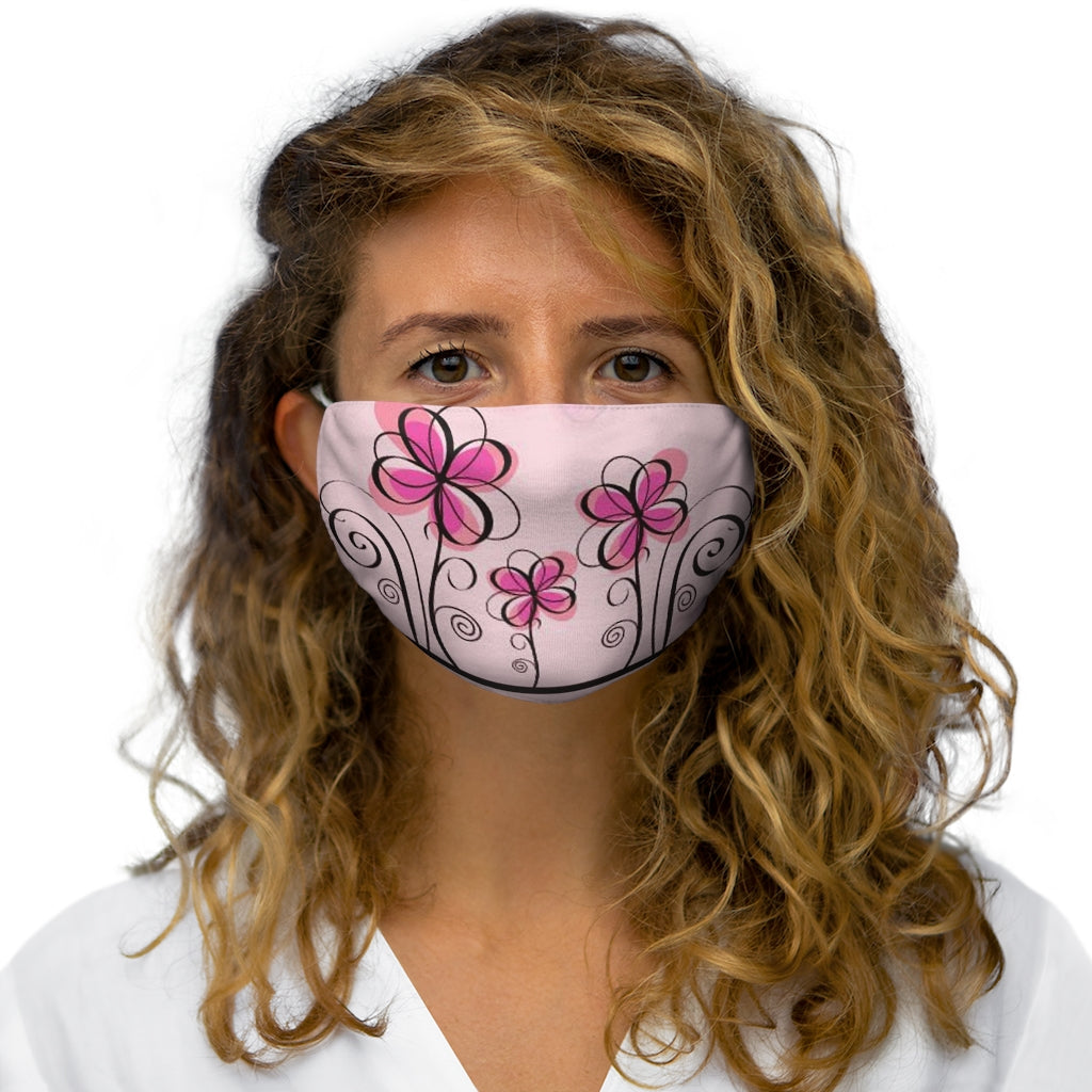 [Multiple Mask Pack] Snug Fit Face Mask: MEG - Nature Series (Pink Floral Squiggles)