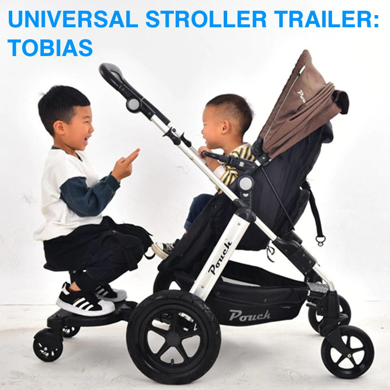 "Universal Stroller Trailer: TOBIAS<p style=""color: red;"">SEASONAL SALE!</p>"