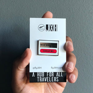 Mile High Club Hard Enamel Pin with Custom JXH Card Back