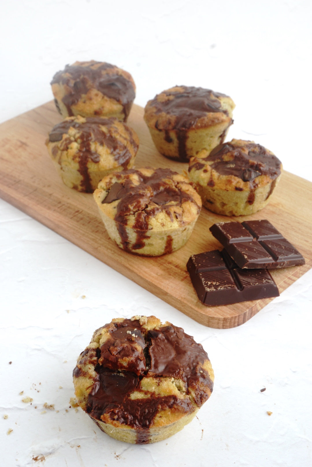 Chocolate muffins which are 100% keto friendly and made with OKONO chocolate