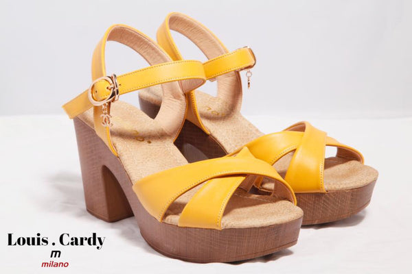 yellow shoes summer by louis cardy