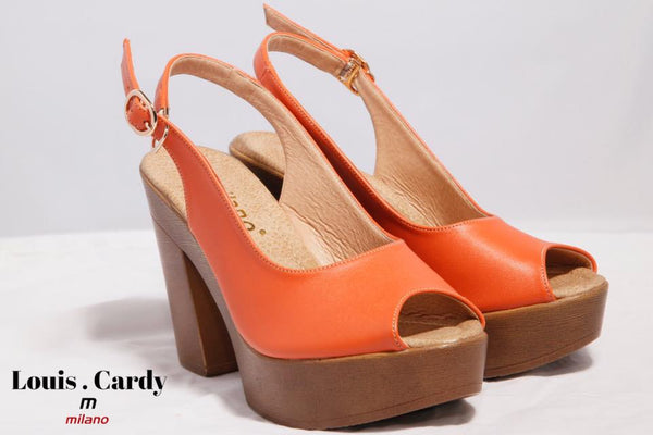 orange shoes by louis cardy