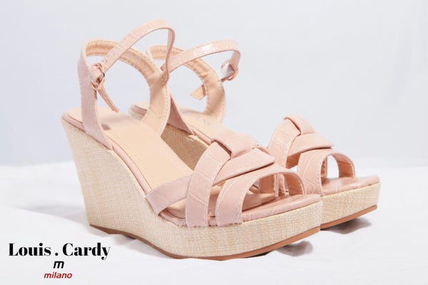 light pink comf heels by louis cardy